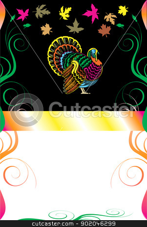 Thanksgiving Background 8 stock vector clipart, Vector Illustration of a Thanksgiving Background with Thanksgiving Turkey. by Basheera Hassanali