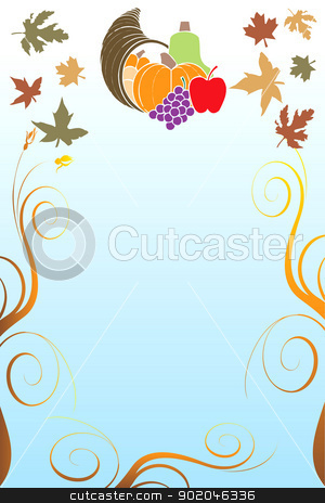 Thanksgiving Background 5 stock vector clipart, Vector Illustration of a Thanksgiving Background with harvest vegetables. by Basheera Hassanali