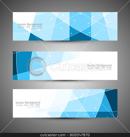 Abstract blue colorfull header mosaic wave vector stock vector clipart, Abstract blue colorfull header mosaic wave vector illustration  by bharat pandey