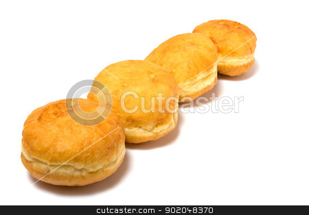 Doughnut isolated on white stock photo, Doughnut isolated on white close up by Natika