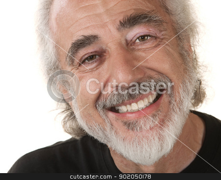 Male with Big Grin stock photo, Caucasian male with big grin on isolated background by Scott Griessel