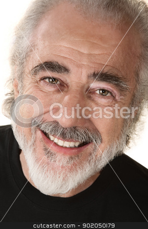 Happy Man Close Up stock photo, Close up of happy mature white male on isolated background by Scott Griessel
