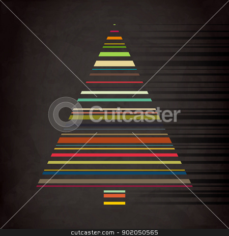 dark tree stock vector clipart, fine royalty free illustration with conceptual bar code tree on retro background by metrue
