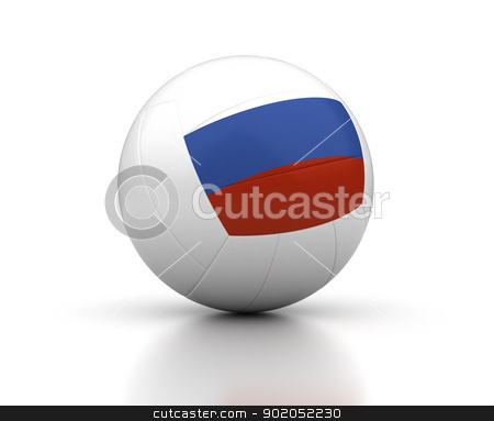 Russian Volleyball Team stock photo, Russian Volleyball Team (isolated with clipping path) by bosphorus