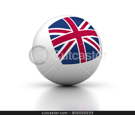 United Kingdom Volleyball Team stock photo, United Kingdom Volleyball Team (isolated with clipping path) by bosphorus