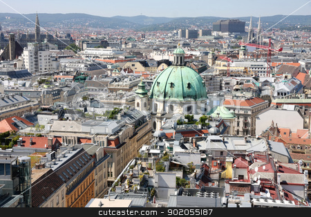 Vienna, Austria  stock photo, Panorama of Vienna, aerial view from Stephansdom cathedral, Vienna, Austria  by vladacanon1