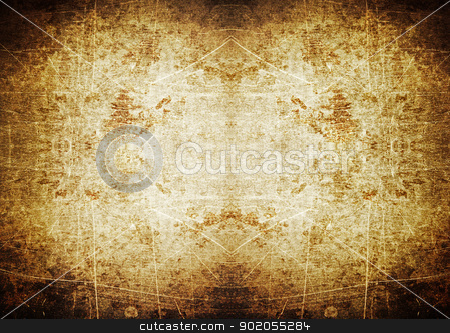 Spotlight grunge background with scratches stock photo, Brown spotlight grunge background with scratches by steve ball