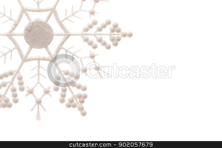 Glittery Snowflake Isolated on White stock photo, White Glittery Snowflake Isolated on a White Background. by Andy Dean