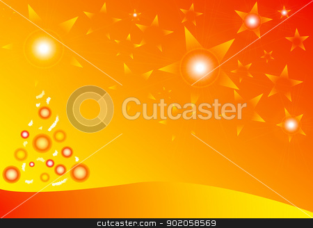 background Orange  Christmas stock photo, Abstract background, with Orange Christmas ,illustration by toodlingstudio