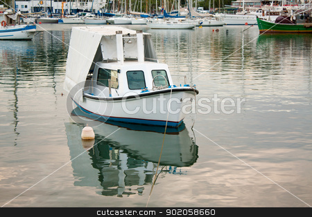 Boats in a Greek Port stock photo, Boats in Mikrolimano Harbour, Piraeus, near Athens, Greece. by Brigida Soriano