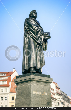 Martin Luther stock photo, An image of the Martin Luther statue in Dresden Germany by Markus Gann