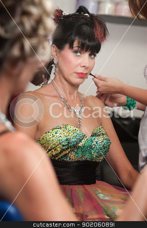 Jealous Lady in Hair Salon stock photo, Jealous lady looking at woman in hair salon by Scott Griessel