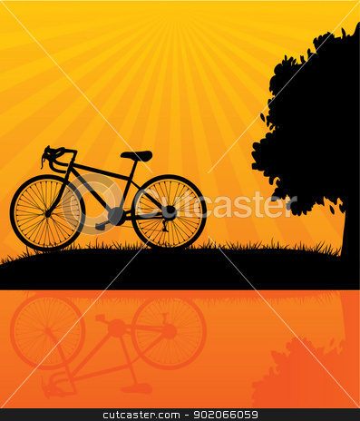 Bicycle stock vector clipart, Vector illustration of Bicycle by SonneOn