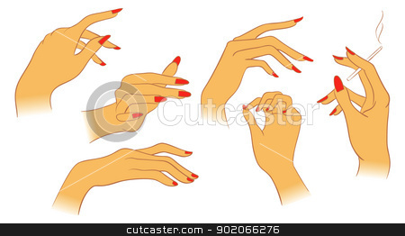 women hands stock vector clipart, Vector illustration of women hands by SonneOn