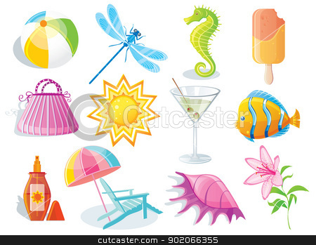 Summer icon stock vector clipart, Summer icon by SonneOn