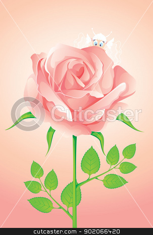 Background with beauty roses stock vector clipart, Vector illustration of Background with beauty roses by SonneOn