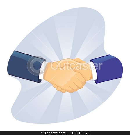Handshake two men stock vector clipart, Vector illustration of Handshake two men by SonneOn