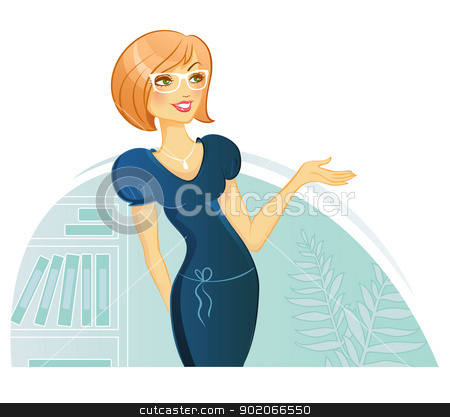 Woman Presentation stock vector clipart, Vector illustration of Woman Presentation by SonneOn