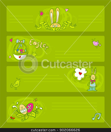 Easter templates stock vector clipart, Vector illustration of Easter templates by SonneOn