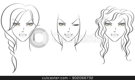 Beauty woman stock vector clipart, Vector illustration of Beauty woman by SonneOn