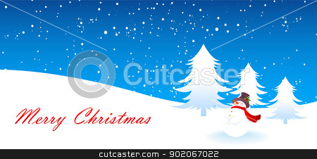 Xmas tree stock vector clipart, Vector illustration of Xmas tree by SonneOn
