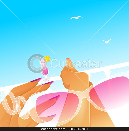 Summer rest stock vector clipart, Vector illustration of Summer rest by SonneOn