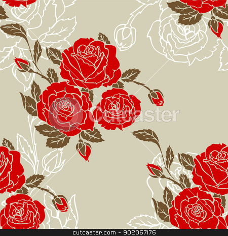 Damask pattern stock vector clipart, Vector illustration of Damask pattern by SonneOn