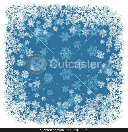 Snowflakes frame blue. Vector background, EPS8 stock photo, Snowflakes frame blue. Vector background, EPS8 by pashabo
