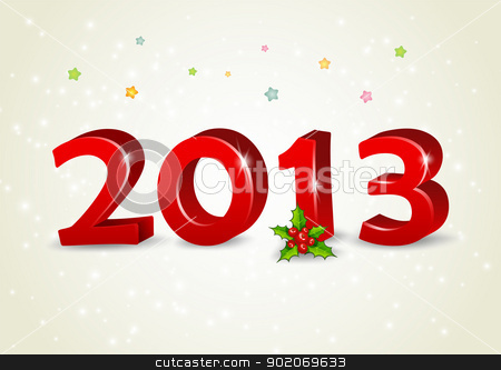 Happy new year 2013 stock vector clipart, Vector illustration of Happy new year 2013 by SonneOn