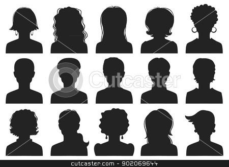 Man and woman avatars stock vector clipart, Man and woman avatars by SonneOn