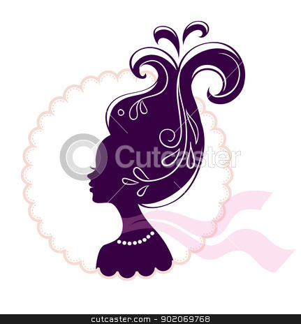 Beautiful woman pic  stock vector clipart, Vector illustration of Beautiful woman pic  by SonneOn