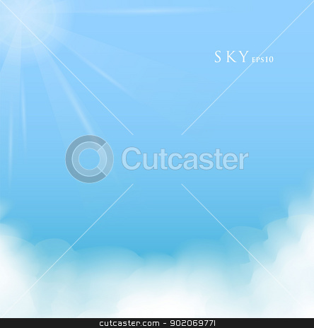 Sky with clouds stock vector clipart, Vector illustration of Sky with clouds by SonneOn