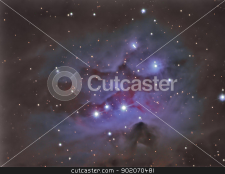 ngc1977 Running man nebula stock photo, ngc1977 Running man nebula by Reinhold Wittich
