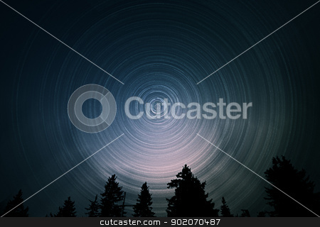 Star Trails stock photo, Star Trails by Reinhold Wittich