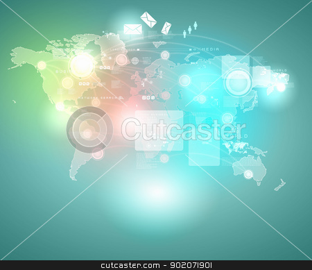 Internet concept illustration stock photo, Internet technology concept of global business from concepts series by Sergey Nivens