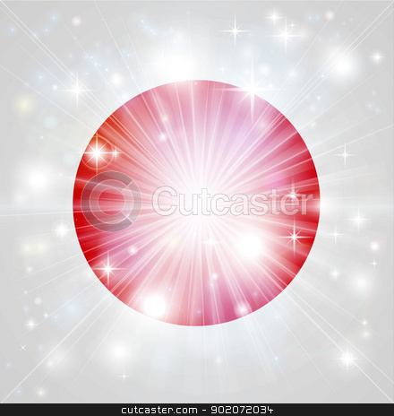 Japanese flag background stock vector clipart, Flag of Japan background with pyrotechnic or light burst and copy space in the centre by Christos Georghiou