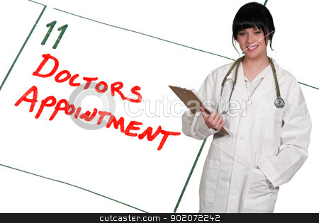 Doctors Appointment stock photo, Doctor and calendar reminder for a Doctors Appointment by Robert Byron