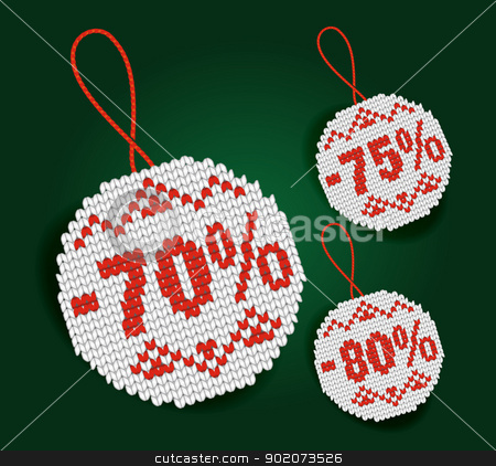 Discount price tag stock vector clipart, Discount price tag isolated on background by Natashasha