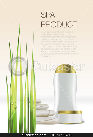 Spa Cosmetic flyer stock vector clipart, Spa Cosmetic flyer isolated on background by Natashasha