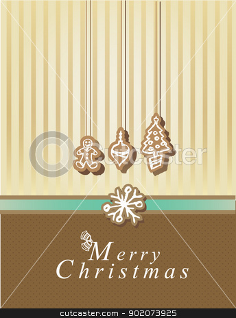 Merry Christmas card  stock vector clipart, Merry Christmas card with elements by Natashasha