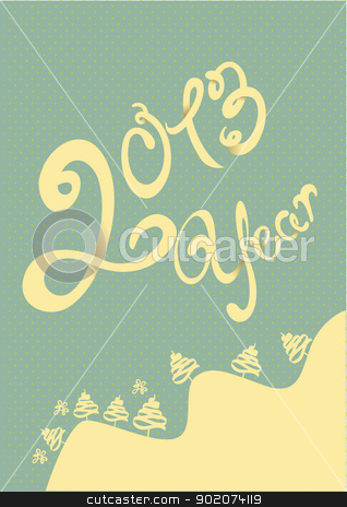 Happy 2013 year illustration stock vector clipart, Happy 2013 year illustration with elements by Natashasha