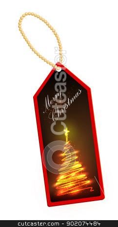 Label Christmas theme stock vector clipart, Label Christmas theme, to wish a happy Christmas to all by Alfio Roberto Silvestro