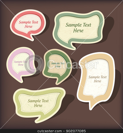 Speech bubbles vector scrapbook set  stock vector clipart, Speech bubbles vector scrapbook set  isolated on background by Natashasha