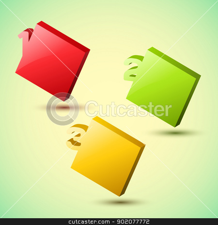 Progress background / product choice or versions. stock photo, Vector Progress background / product choice or versions. by Godruma