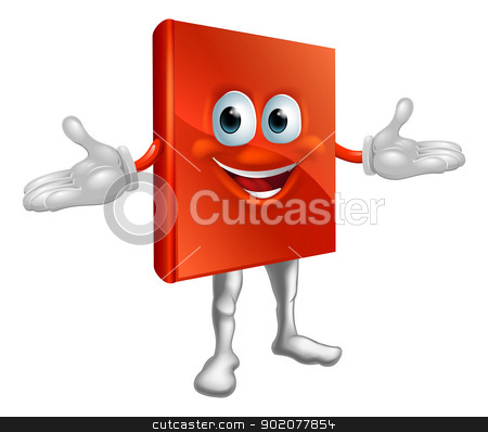 Book mascot education character  stock vector clipart, Illustration of a cute happy book mascot education cartoon character  by Christos Georghiou