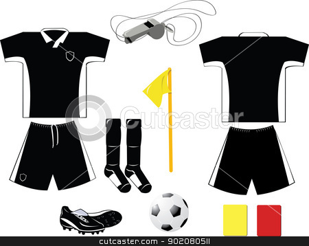 Black and White Arbiter Equipment stock vector clipart, Every object is singly grouped by pcanzo