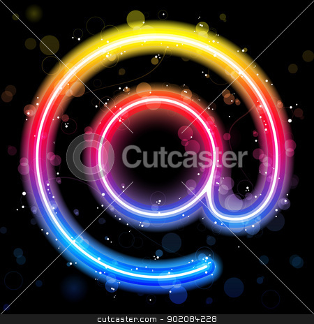 Internet Symbol Rainbow Lights  Glitter with Sparkles stock vector clipart, Vector - Internet Symbol Rainbow Lights  Glitter with Sparkles by Augusto Cabral Graphiste Rennes