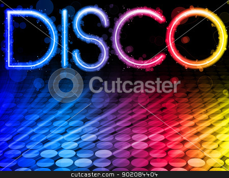 Disco Abstract Colorful Waves on Black Background stock vector clipart, Vector - Disco Abstract Colorful Waves on Black Background by gubh83