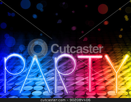 Party Abstract Colorful Waves on Black Background stock vector clipart, Vector - Party Abstract Colorful Waves on Black Background by gubh83
