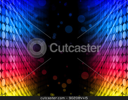 Disco Abstract Colorful Waves on Black Background stock vector clipart, Vector - Disco Abstract Colorful Waves on Black Background by AUGUSTO CABRAL
